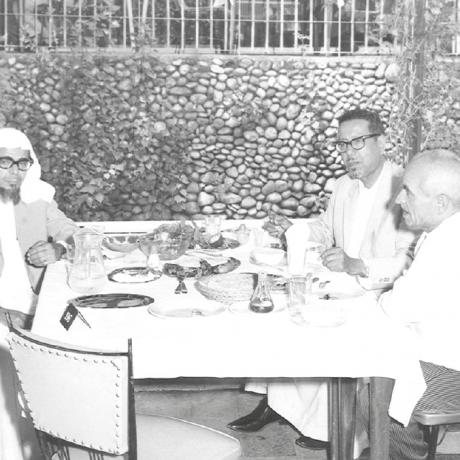 محمد السبيعي مع عبدالله البراهيم الخريف في لبنان